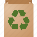 bag, business, commerce, conservation, ecology, environment, green, market, packaging, recycle, recycling icon