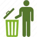 basket, bin, environment, garbage, people, person, recycle, trash icon