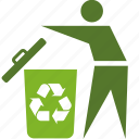 basket, bin, conservation, ecology, environment, garbage, people, person, recycle, trash icon