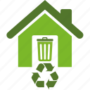 bin, conservation, ecology, environment, green, home, hose, recycle, recycling icon
