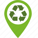 conservation, ecology, environment, green, marker, packaging, pin, pointer, recycle, recycling icon