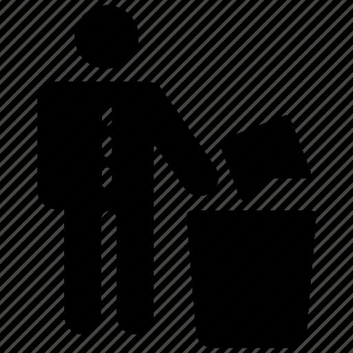 dustbin, garbage can, junk bin, recycle bin, trash bin icon