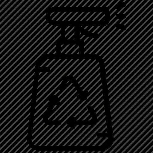 aerosol, cleaning bottle, recycle bottle, spray, water sprayer icon