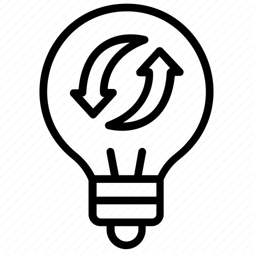 bulb recycling, energy saver, fluorescent light, light bulb, recycle bulb icon