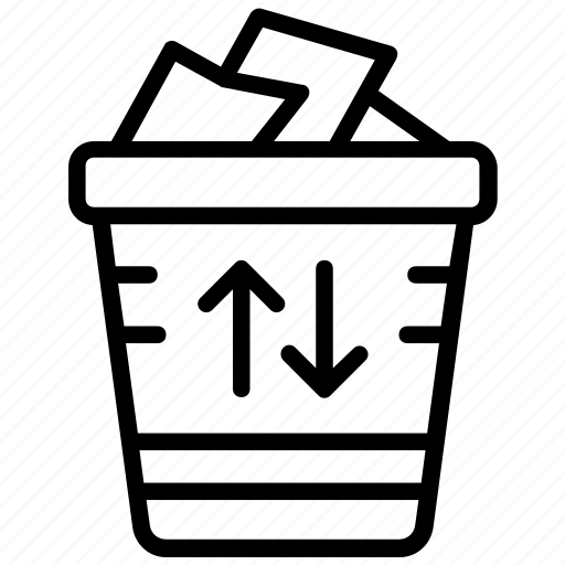 garbage can, garbage recycle, recycle bin, trash bin, trash recycling icon