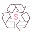 disposal, fee, recycling icon