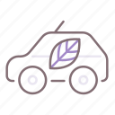 car, eco, recycling icon