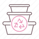 container, food, recycling icon