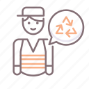 collector, garbage, male icon