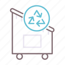 containers, household, recycling icon