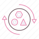 materials, recovery, recycling icon