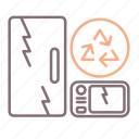 appliances, disposal, old icon