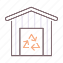 off, center, drop, residential icon