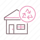 disposal, waste, residential icon