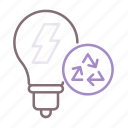 bulb, disposal, light, safe icon