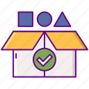 recycle, accepted, materials icon