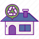 program, curbside, recycling, pick icon