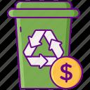 disposal, fee, garbage icon