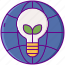 environmental, globe, awareness icon