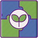 environmental, solutions, recycling icon