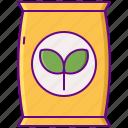 fertilizer, soil, organic icon