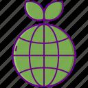 green, globe, planet