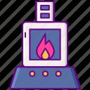 incinerator, burner, burn icon