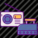 appliances, old, disposal icon