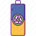 battery, batteries, recycled icon