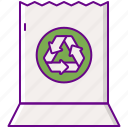 bag, paper, recycled icon