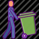 waste, residental, disposal icon