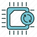 ecology, electronic, environment, recycle, recycling, scrap, trash icon