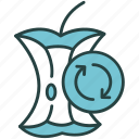 ecology, food, recycle, recycling, stub, trash, waste icon