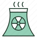 ecology, electricity, energy, nuclear, pipe, plant, power icon