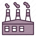 air, contamination, ecology, factory, industrial, pollution, smoke icon