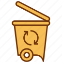 bin, can, ecology, garbage, recycle, recycling, trash icon