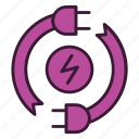 consumption, ecology, electricity, energy, environment, plug, power icon
