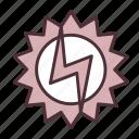development, eco, electricity, energy, green, power, sun icon