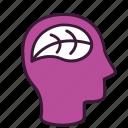 awareness, eco, environmental, green, head, thinking, understanding icon