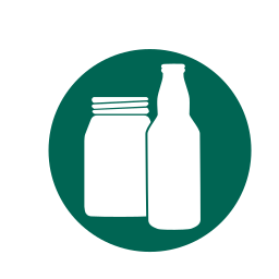 beer bottles, bottles, glass, jars, recycling icon