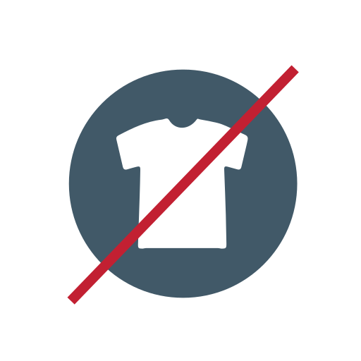 no clothing, no textiles icon