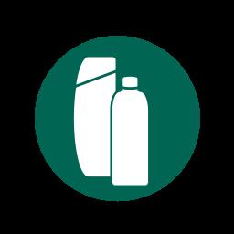bath, plastic bottles, plastics, recycling icon