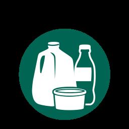 kitchen, plastic bottles, plastic milk jugs, plastics, recycling icon