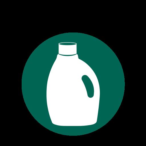 laundry detergent bottles, plastic, plastic bottles, recycling icon