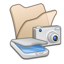 &, beige, cameras, folder, scanners icon
