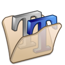 beige, folder, font icon