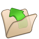 beige, folder, parent icon