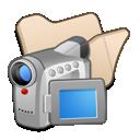 beige, folder, videos icon