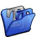 blue, folder, font icon