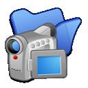 blue, folder, videos
